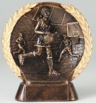 Resin Plate -Basketball Mini Female Basketball Trophy Awards