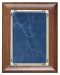 Scallop Walnut Plaque with Blue Marble Plate Employee Awards