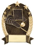 5 Star Oval -Lacrosse Generic Lacrosse Trophy Awards