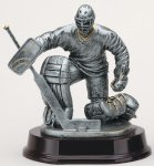 Ice Hockey Goalie Signature Rosewood Resin Trophy Awards
